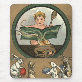 Easter Bunny Decorated Painted Colored Egg Baby Mouse Pad