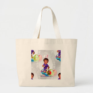 easter bunny donald trump large tote bag
