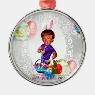 easter bunny donald trump metal ornament