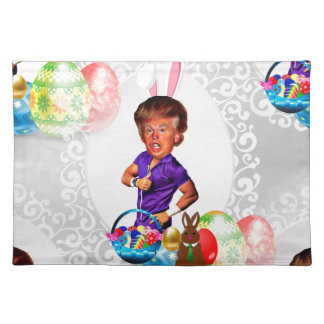 easter bunny donald trump placemat