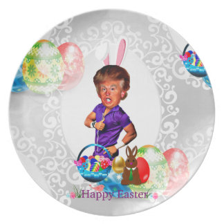 easter bunny donald trump plate