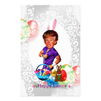 easter bunny donald trump stationery