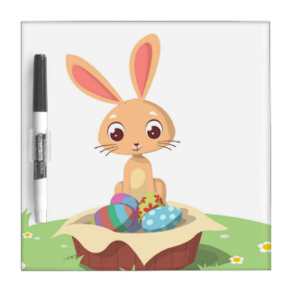 EASTER BUNNY DRY ERASE BOARD