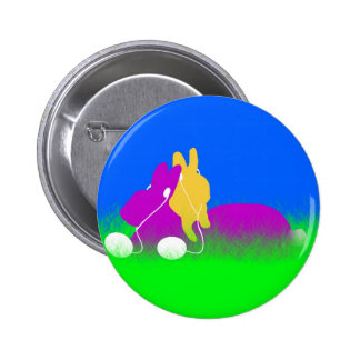 Easter Bunny Ear Buds Pinback Buttons
