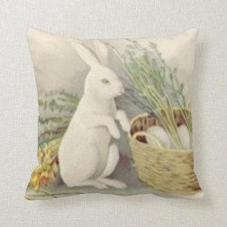 Easter Bunny Egg Basket Daffodil Jonquil Cushion