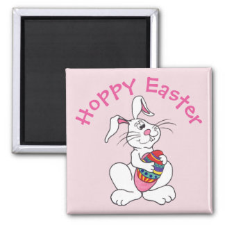 Easter Bunny & Egg - Customisable Magnet
