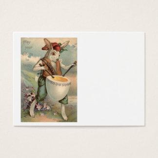 Easter Bunny Egg Drum Drummer Flower Business Card