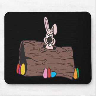 Easter Bunny Egg Hiding Mouse Pad