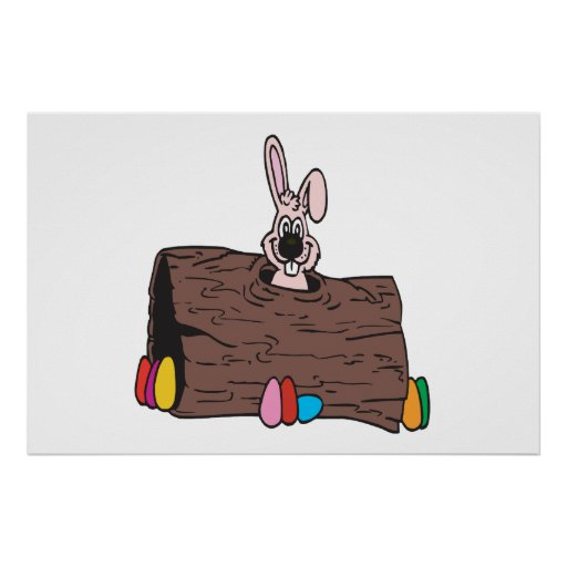 Easter Bunny Egg Hiding Posters