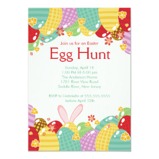 Easter Bunny Egg Hunt Easter Party Invitation