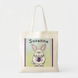 Easter Bunny Egg Hunt Tote Bag Boy Girl