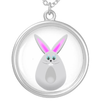 Easter Bunny Egg Personalized Necklace