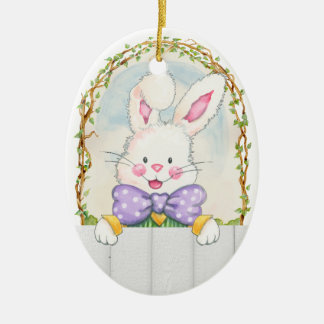 Easter Bunny Eggs - SRF Ceramic Oval Decoration