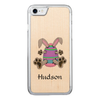 Easter Bunny Escapes from Colourful Easter Egg Carved iPhone 8/7 Case