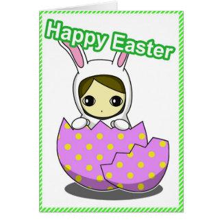 Easter Bunny Girl card