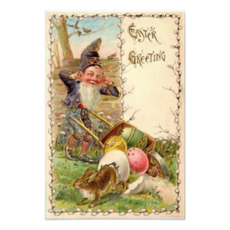 Easter Bunny Gnome Painted Colored Egg Photo Print