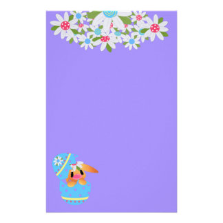 Easter Bunny Hatching From a Decorated Egg Stationery
