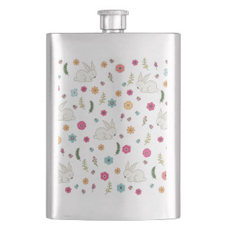 Easter bunny hip flask