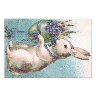 Easter Bunny Holding Colored Egg Photo