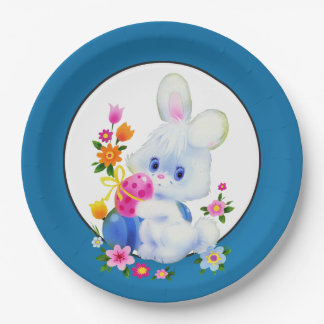 Easter Bunny Holiday party paper plate
