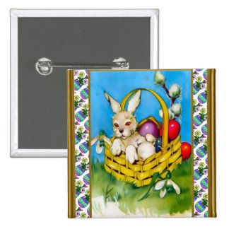 Easter Bunny in a basket Pins