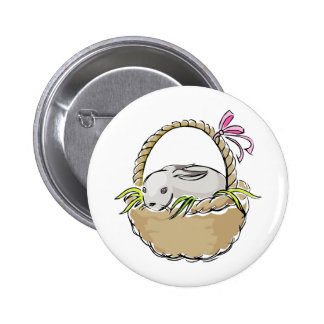Easter Bunny in Basket Buttons
