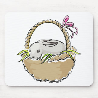 Easter Bunny in Basket Mouse Pad
