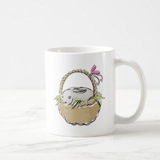Easter Bunny in Basket Coffee Mugs