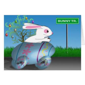 Easter Bunny In Egg Car Card
