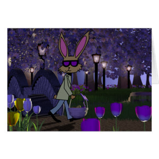 Easter Bunny in Park Card