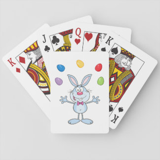 Easter Bunny Juggling Eggs Playing Cards