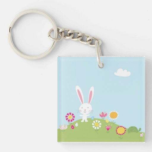 Easter bunny key chain acrylic keychains