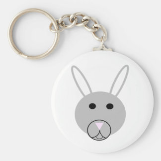 Easter Bunny Basic Round Button Key Ring