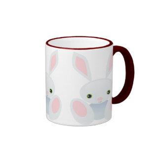 Easter bunny - Little Blue Bunny Ringer Coffee Mug