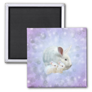 Easter Bunny Magic Magnet 2 Inch Square Magnet