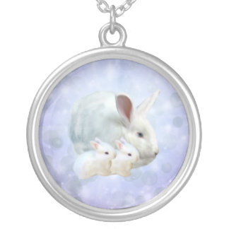 Easter Bunny Magic Necklace Round Pendant Necklace
