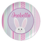 Easter Bunny Pastels - Personalised Melamine Plate