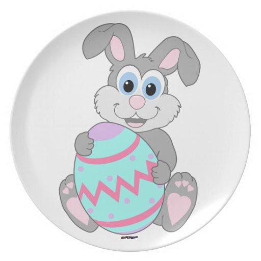 Easter Bunny Dinner Plates