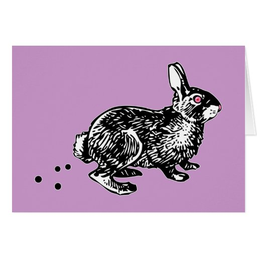 Easter Bunny Poo Greeting Card