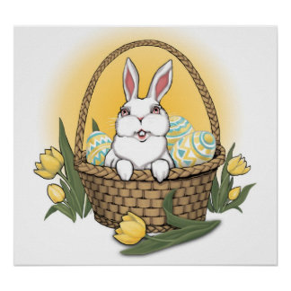 Easter Bunny Poster Festive Easter Party Decor