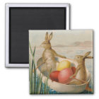 Easter Bunny Rabbit Coloured Egg Boat Magnet