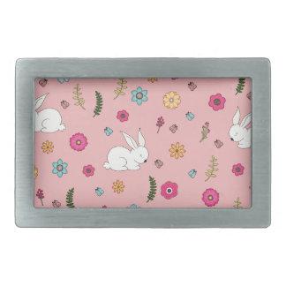 Easter bunny rectangular belt buckle