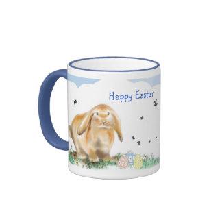 Easter Bunny Rhyme-Rabbit Illustration Ringer Mug