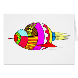 Easter Bunny Rocketeer Card