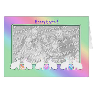 Easter Bunny Row (photo frame) Card