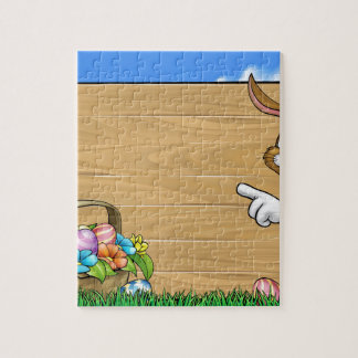 Easter Bunny Sign Background Jigsaw Puzzle
