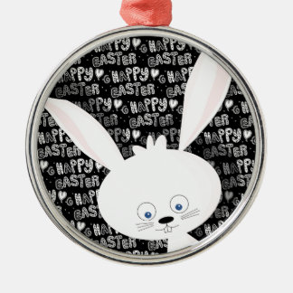 Easter bunny Silver-Colored round decoration
