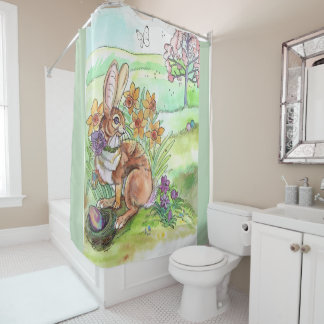 Easter Bunny Spring Shower Curtain