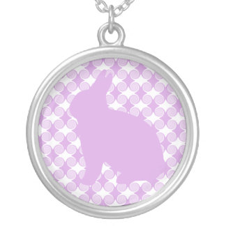 Easter Bunny Swirls Necklace, Lavender