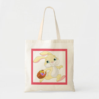 Easter Bunny With Basket Tote Bag